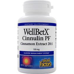 NATURAL FACTORS WellBetX Cinnulin PF 60 caps