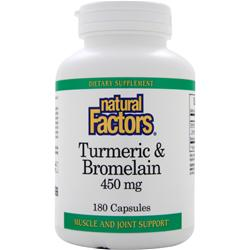 NATURAL FACTORS Turmeric & Bromelain (450mg) 180 caps