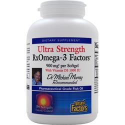 Natural Factors RxOmega-3 Factors - Ultra Strength with Vitamin D 150 sgels