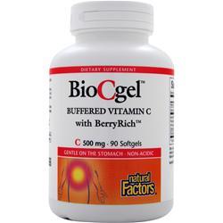 Natural Factors BioCgel Buffered Vitamin C with BerryRich 90 sgels