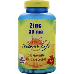 NATURE'S LIFE Zinc (30mg) 250 vcaps