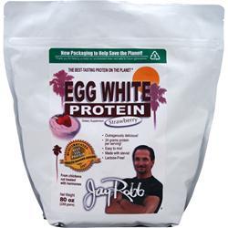 Jay Robb Egg White Protein Strawberry 80 oz
