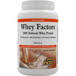 Natural Factors 100% Natural Whey Protein - Whey Factors Unflavored 2 lbs