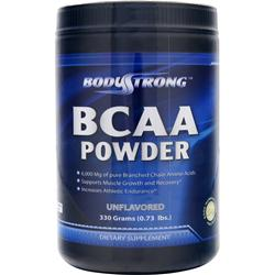 BodyStrong BCAA Powder Unflavored 330 grams