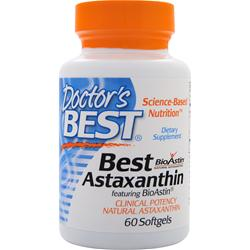 DOCTOR'S BEST Best Astaxanthin 60 sgels