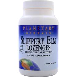 PLANETARY FORMULAS Slippery Elm Lozenges (150mg) Tangerine Flavor 200 lzngs