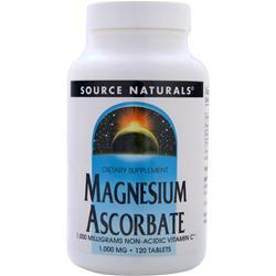 SOURCE NATURALS Magnesium Ascorbate 120 tabs