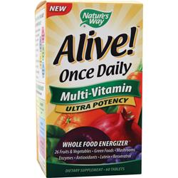 Nature's Way Alive Once Daily Multi-Vitamin Ultra Potency 60 tabs