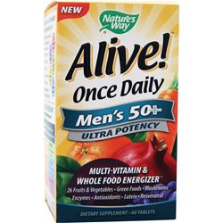 NATURE'S WAY Alive Once Daily Men's 50+ Ultra Potency 60 tabs