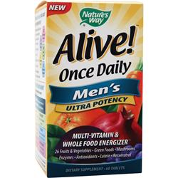 NATURE'S WAY Alive Once Daily Men's Ultra Potency 60 tabs