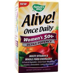 NATURE'S WAY Alive Once Daily Women's 50+ Ultra Potency 60 tabs