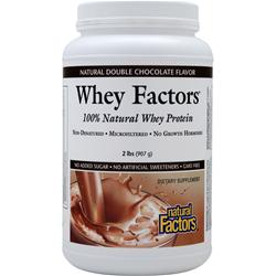 Natural Factors 100% Natural Whey Protein - Whey Factors Natural Double Chocolate 2 lbs