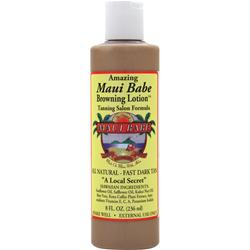 Maui Babe Browning Lotion Tanning Salon Formula - All Natural Fast Dark Tan 8 fl.oz
