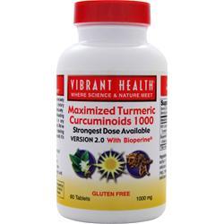 VIBRANT HEALTH Maximized Turmeric Curcuminoids 1000 60 tabs