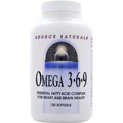 Source Naturals Omega 3-6-9 120 sgels