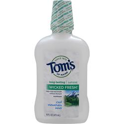Tom's Of Maine Natural Long-Lasting Mouthwash Cool Mountain Mint 16 fl.oz