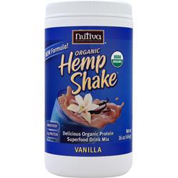 NUTIVA Organic Hemp Shake Vanilla 16 oz