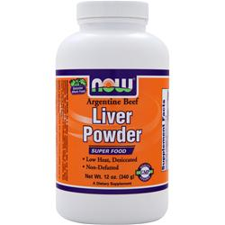 NOW Liver Powder - Argentine Beef 12 oz