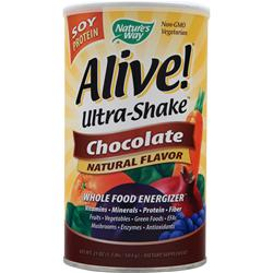 NATURE'S WAY Alive Ultra Shake Soy Protein Chocolate 1.3 lbs