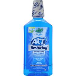 Chattem ACT Restoring Anticavity Flouride Mouthwash Cool Splash Mint 33.8 fl.oz