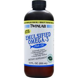 TWINLAB Emulsified Omega-3 Fish Oil Mint 12 fl.oz
