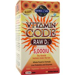 Garden Of Life Vitamin Code - Raw D3 (5,000IU) 60 caps