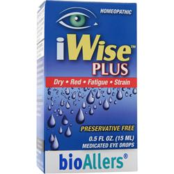 BIOALLERS iWise Plus - Medicated Eye Drops .5 fl.oz
