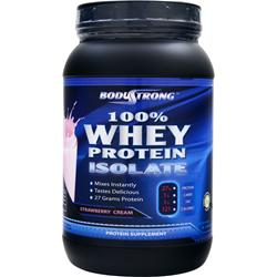 BodyStrong 100% Whey Protein Isolate Strawberry Cream 2 lbs
