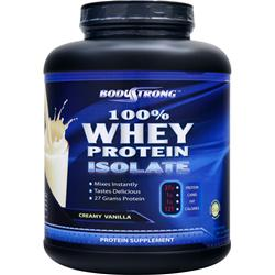 BodyStrong 100% Whey Protein Isolate Creamy Vanilla 5 lbs