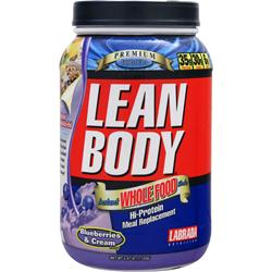 Labrada Lean Body Instant Whole Food Shake Blueberries & Cream 2.47 lbs