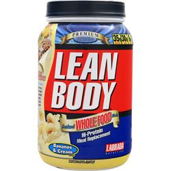 LABRADA Lean Body Instant Whole Food Shake Bananas & Cream 2.47 lbs