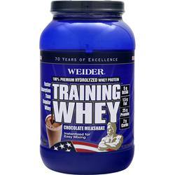 WEIDER Training Whey - 100% Premium Hydrolyzed Whey Protein Chocolate 2 lbs