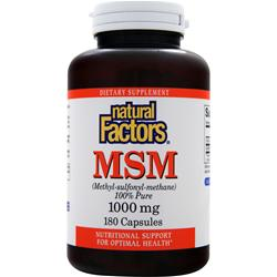 NATURAL FACTORS MSM (1000mg) 180 caps