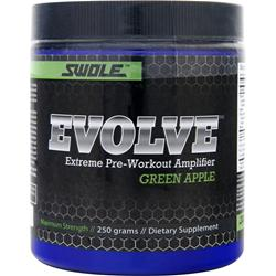 Swole Evolve Extreme Pre-Workout Amplifier Green Apple 250 grams