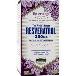 RESERVEAGE ORGANICS Resveratrol (250mg) 120 vcaps