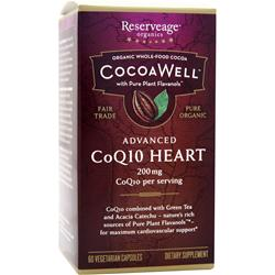 Reserveage Organics CocoaWell Advanced CoQ10 Heart 60 vcaps
