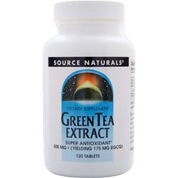 SOURCE NATURALS Green Tea Extract (500mg) 120 tabs