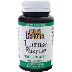 NATURAL FACTORS Lactase Enzyme (9000 FCC ALU) 60 caps