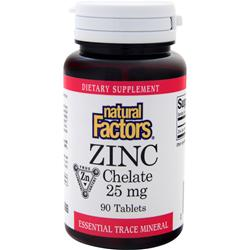 NATURAL FACTORS Zinc Chelate (25mg) 90 tabs
