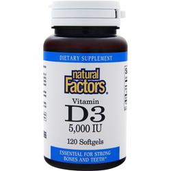 NATURAL FACTORS Vitamin D3 (5000IU) 120 sgels