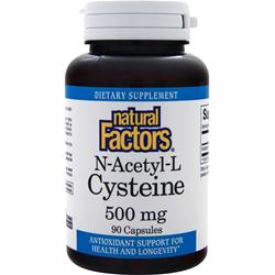 NATURAL FACTORS N-Acetyl-L Cysteine (500mg) 90 caps