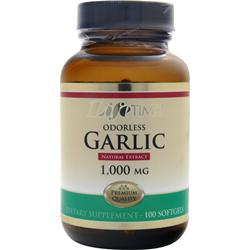 LIFETIME Odorless Garlic (1000mg) 100 sgels