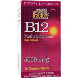 NATURAL FACTORS B12 Methylcobalamin (5000mcg) 60 tabs
