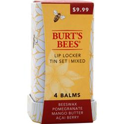 BURT'S BEES Lip Locker Tin Set Mixed 4 unit