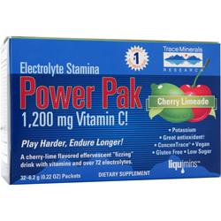 Trace Minerals Research Electrolyte Stamina Power Pak Cherry Limeade 32 pckts
