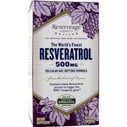 Reserveage Organics Resveratrol (500mg) 60 vcaps