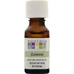 Aura Cacia Lemon 100% Pure Essential Oil .5 fl.oz