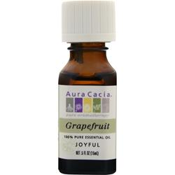AURA CACIA Grapefruit 100% Pure Essential Oil .5 fl.oz