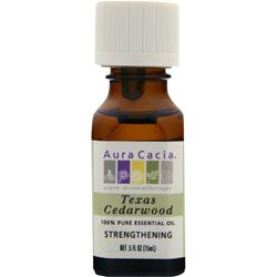 AURA CACIA Texas Cedarwood 100% Pure Essential Oil .5 fl.oz