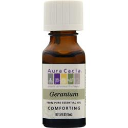 AURA CACIA Geranium - 100% Pure Essential Oil .5 fl.oz